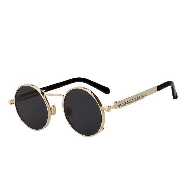 Doggax - Gold w black - Men's Sunglasses - Steampunk Sunglasses - Crissado