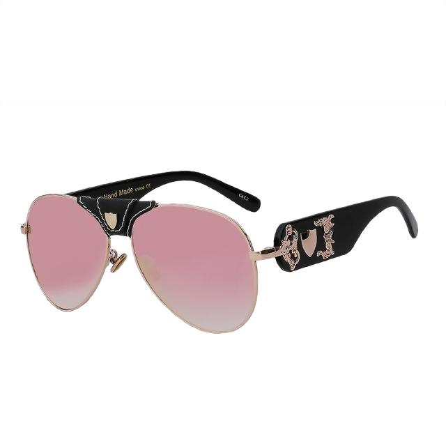 JACQUES - Black w pink mirror - Men's & Women's Sunglasses - Vintage Sunglasses - Crissado