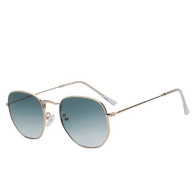 Aberidus - Gold w gradien green - Men's & Women's Sunglasses - Vintage Sunglasses - Crissado