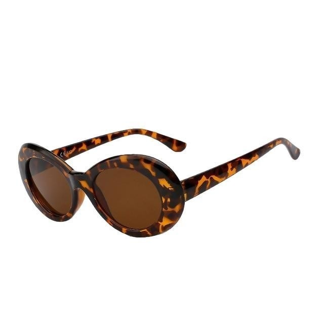 Yodacloud - Leopard w brown - Women's Sunglasses - Round Sunglasses - Crissado