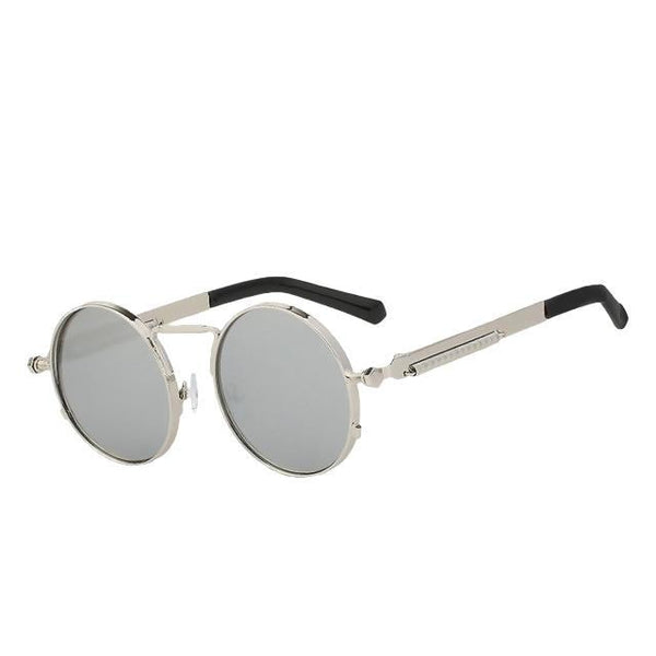 Doggax - Silver mirror - Men's Sunglasses - Steampunk Sunglasses - Crissado