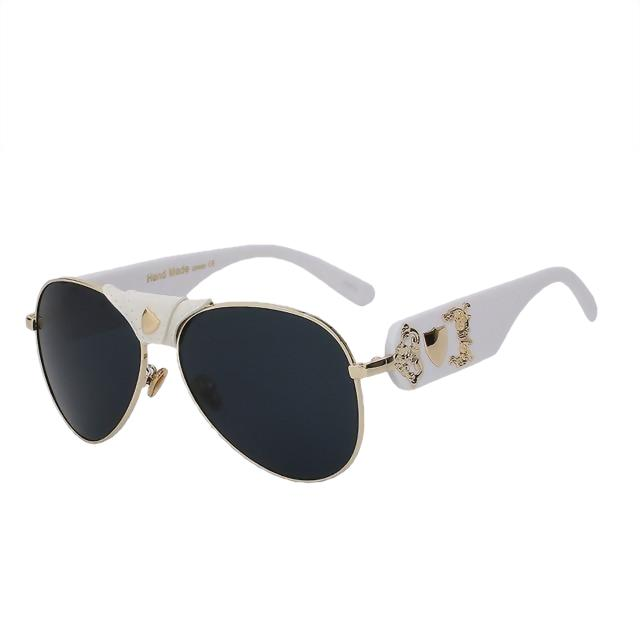 JACQUES - White gold w black - Men's & Women's Sunglasses - Vintage Sunglasses - Crissado
