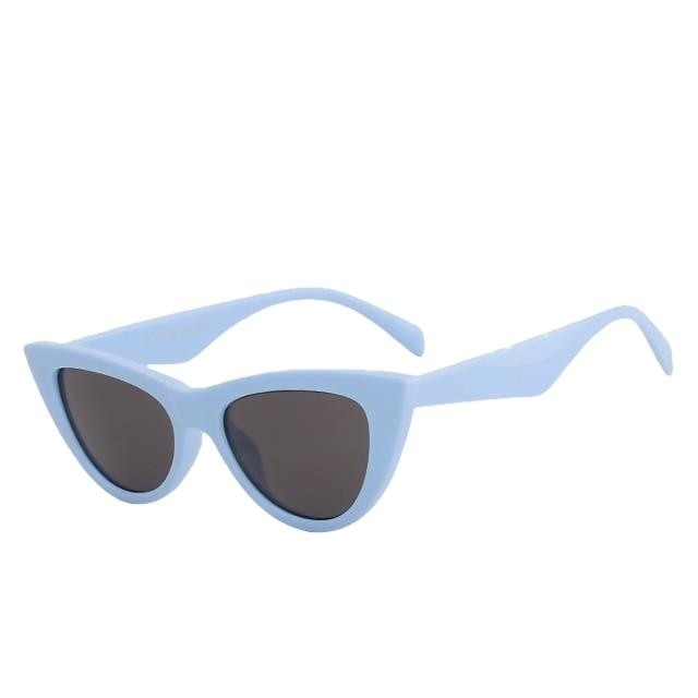 Sinpad - Lt blue w black - Women's Sunglasses - Cat Eye Sunglasses - Crissado