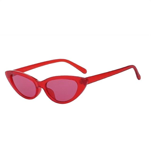 Lingox Sunglasses-Red w sea red-Women's Sunglasses-Cat Eye Sunglasses-Lensuit