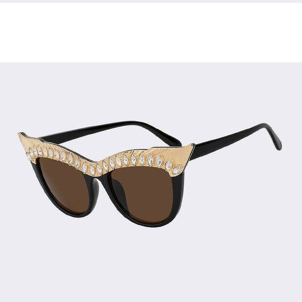 Nalpure - Brown w brown - Women's Sunglasses - Cat Eye Sunglasses - Crissado