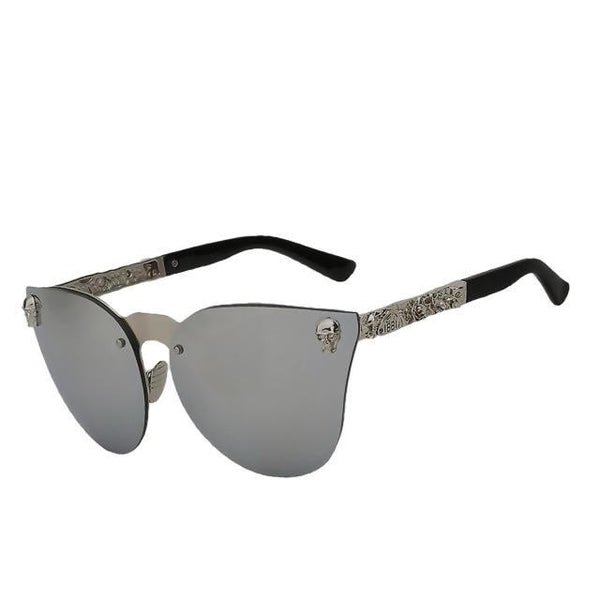 Bestfloor - Silver mirror lens - Women's Sunglasses - Cat Eye Sunglasses - Crissado