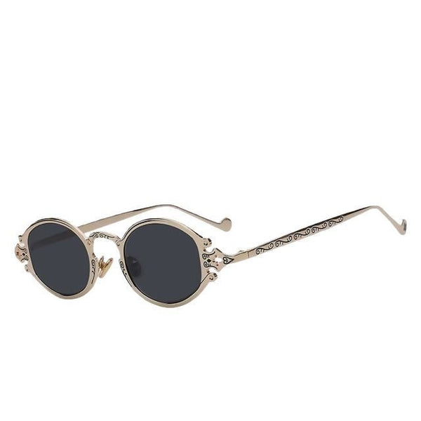 Shiphile - Gold w black - Women's Sunglasses - Round Sunglasses - Crissado