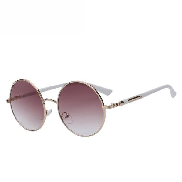 Zelco - Gold w gradien brown - Women's Sunglasses - Round Sunglasses - Crissado
