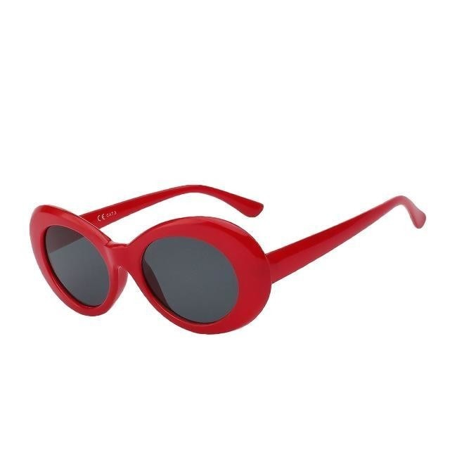 Yodacloud - Red w black - Women's Sunglasses - Round Sunglasses - Crissado