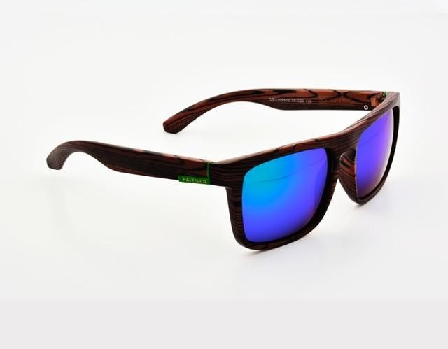 Gutgash - Brown & Blue - 2 - Men's Sunglasses - Wayfarers - Crissado