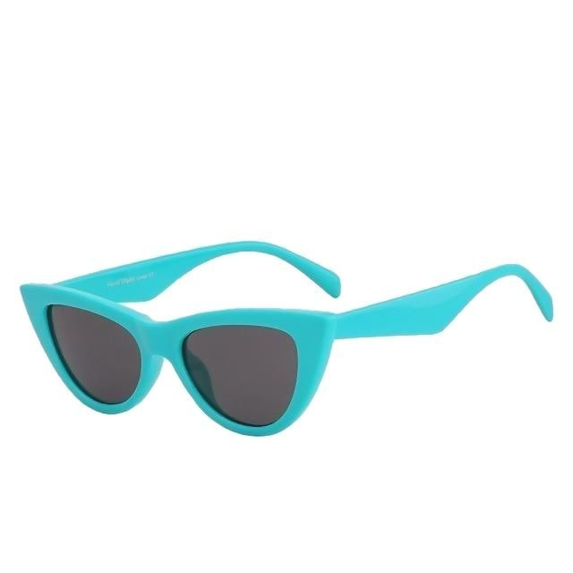 Sinpad - Turquoise w black - Women's Sunglasses - Cat Eye Sunglasses - Crissado