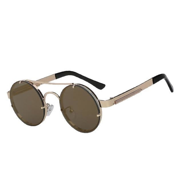 Foxclore - Gold mirror lens - Men's & Women's Sunglasses - Steampunk Sunglasses - Crissado