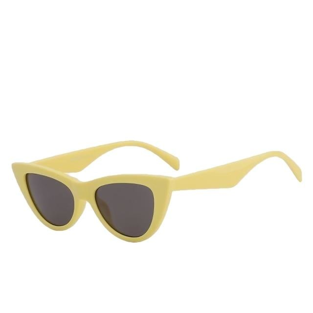 Sinpad - Yellow w black - Women's Sunglasses - Cat Eye Sunglasses - Crissado