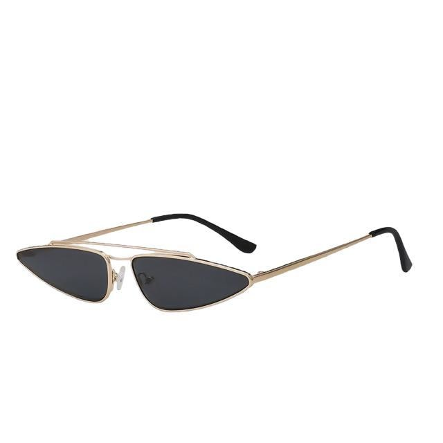 Arrowgance-Gold w black-Women's Sunglasses-Cat Eye Sunglasses-Lensuit