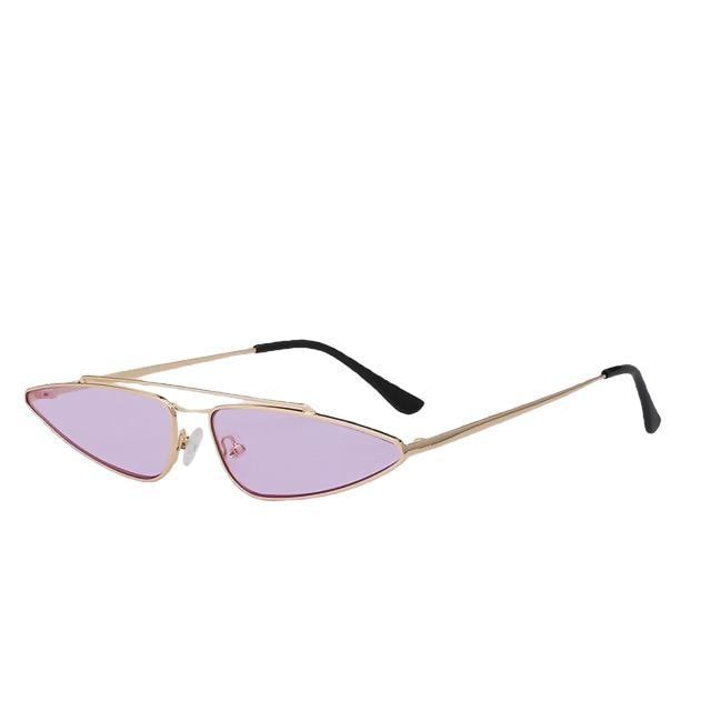Arrowgance-Gold w sea purple-Women's Sunglasses-Cat Eye Sunglasses-Lensuit