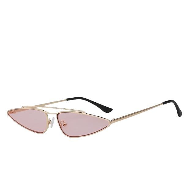 Arrowgance-Gold w sea pink-Women's Sunglasses-Cat Eye Sunglasses-Lensuit