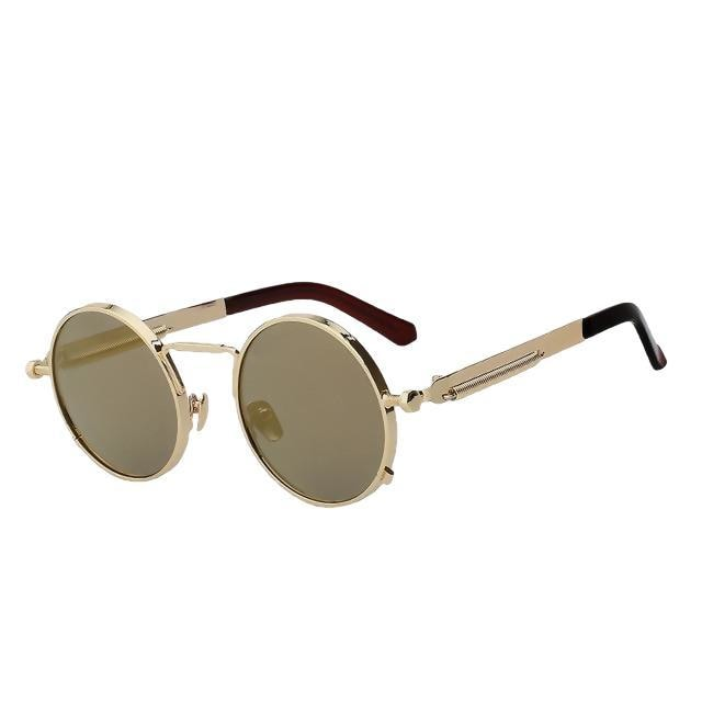 Doggax - Gold w gold mir - Men's Sunglasses - Steampunk Sunglasses - Crissado