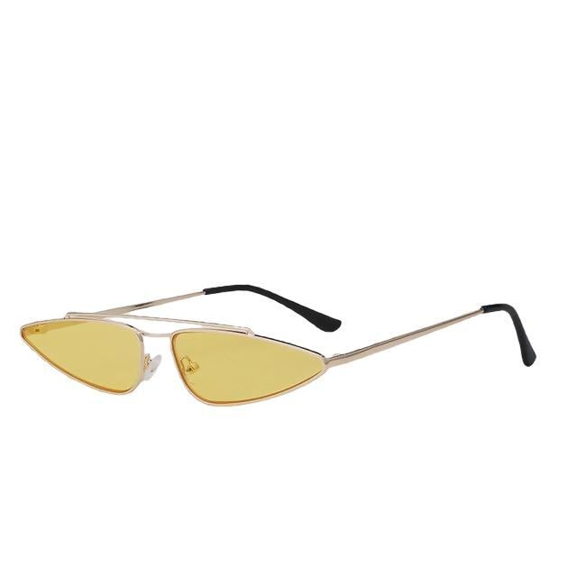 Arrowgance-Gold w sea yellow-Women's Sunglasses-Cat Eye Sunglasses-Lensuit