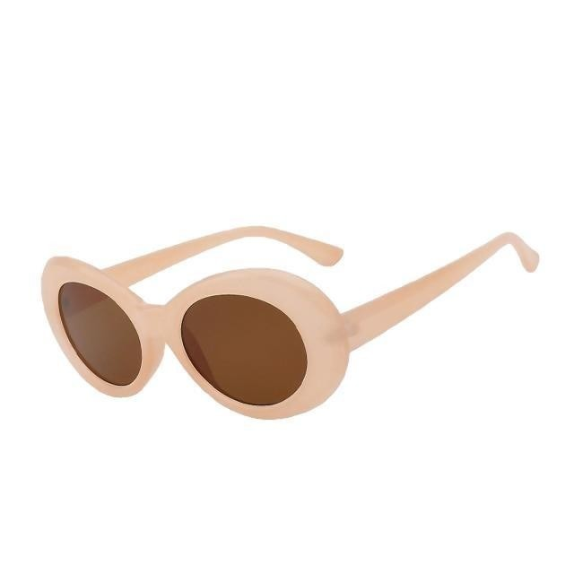 Yodacloud - Nude w brown - Women's Sunglasses - Round Sunglasses - Crissado