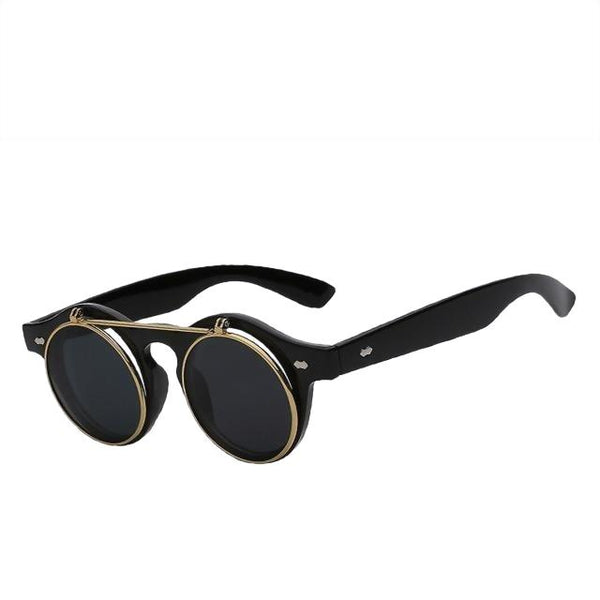 IMPERATOR - Black w black - Men's & Women's Sunglasses - Flip Up Sunglasses - Crissado