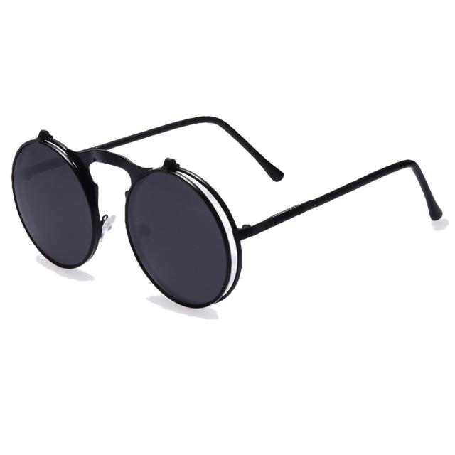 Hexteria Sunglasses-AO5all black-Men's & Women's Sunglasses-Flip Up Sunglasses-Lensuit