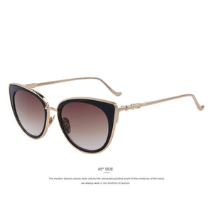 Ann-C02 Gold-Women's Sunglasses-Cat Eye Sunglasses-Lensuit