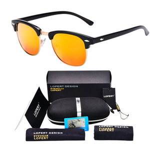 BUMBLEBEE-Black Orange-Men's & Women's Sunglasses-Wayfarers-Lensuit