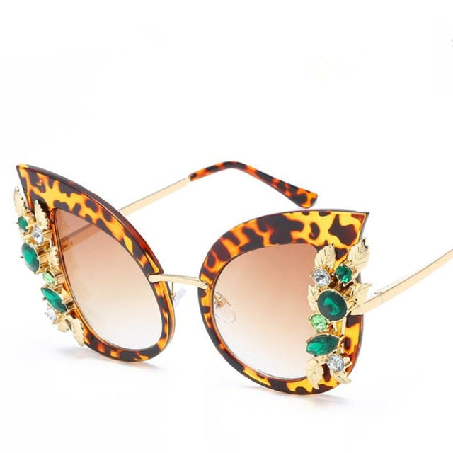 Nefarious - c2 leopard - Women's Sunglasses - Cat Eye Sunglasses - Crissado