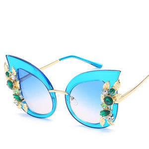 Nefarious Sunglasses-c4 blue-Women's Sunglasses-Cat Eye Sunglasses-Lensuit