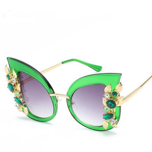 Nefarious Sunglasses-c5 green-Women's Sunglasses-Cat Eye Sunglasses-Lensuit