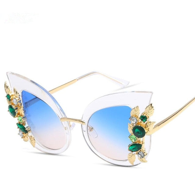 Nefarious Sunglasses-c8 clear blue-Women's Sunglasses-Cat Eye Sunglasses-Lensuit