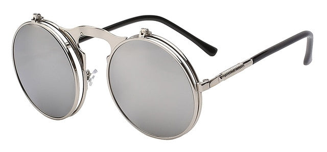 The Bullet - Silver mirror lens - Men's Sunglasses - Flip Up Sunglasses - Crissado