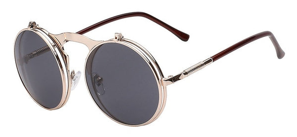 The Bullet - Gold brown w black - Men's Sunglasses - Flip Up Sunglasses - Crissado