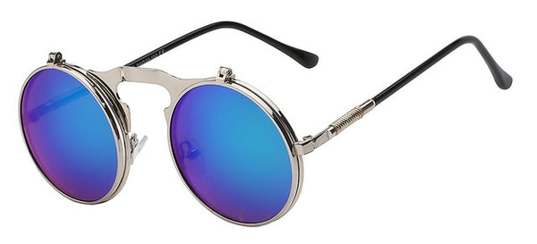 The Bullet - Green mirror lens - Men's Sunglasses - Flip Up Sunglasses - Crissado