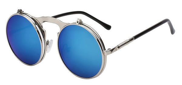 The Bullet - Blue mirror lens - Men's Sunglasses - Flip Up Sunglasses - Crissado