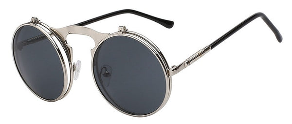 The Bullet - Silver w black lens - Men's Sunglasses - Flip Up Sunglasses - Crissado