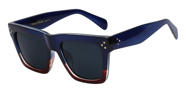 Olielle - Dark blue w black - Men's & Women's Sunglasses - Wayfarers - Crissado