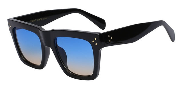 Olielle - Black w blue sea len - Men's & Women's Sunglasses - Wayfarers - Crissado
