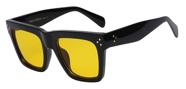 Olielle - Black w yellow lens - Men's & Women's Sunglasses - Wayfarers - Crissado