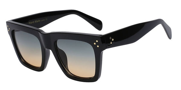 Olielle Sunglasses-Black w green brown-Men's & Women's Sunglasses-Wayfarers-Lensuit