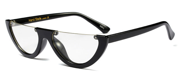Labatouche - black with clear / as shown in photo - Women's Sunglasses - Cat Eye Sunglasses - Crissado