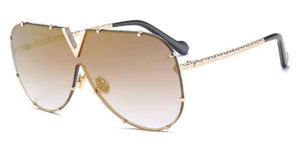 Professor X - gold mirror - Men's Sunglasses - Aviators - Crissado