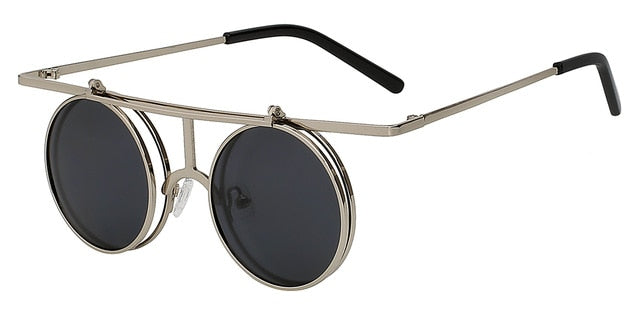 Rictus - Silver w black - Men's Sunglasses - Steampunk Sunglasses - Crissado