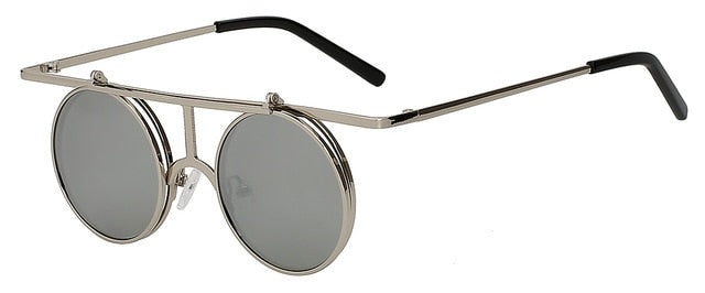 Rictus - Silver mirror lens - Men's Sunglasses - Steampunk Sunglasses - Crissado