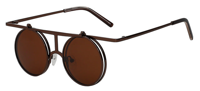 Rictus - Coffee r brown - Men's Sunglasses - Steampunk Sunglasses - Crissado