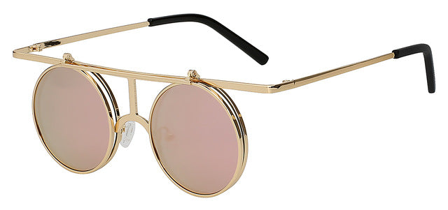 Rictus - Pink mirror lens - Men's Sunglasses - Steampunk Sunglasses - Crissado