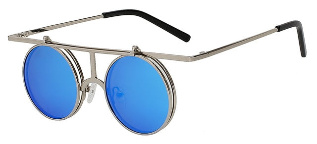 Rictus - Blue mirror lens - Men's Sunglasses - Steampunk Sunglasses - Crissado