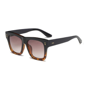 Foreal Sunglasses-Black Leopard Tea-Women's Sunglasses-Wayfarers-Lensuit