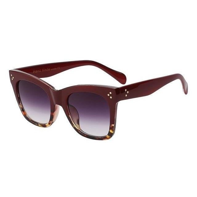 Fiesta - Red leopard frame - Men's & Women's Sunglasses - Wayfarers - Crissado