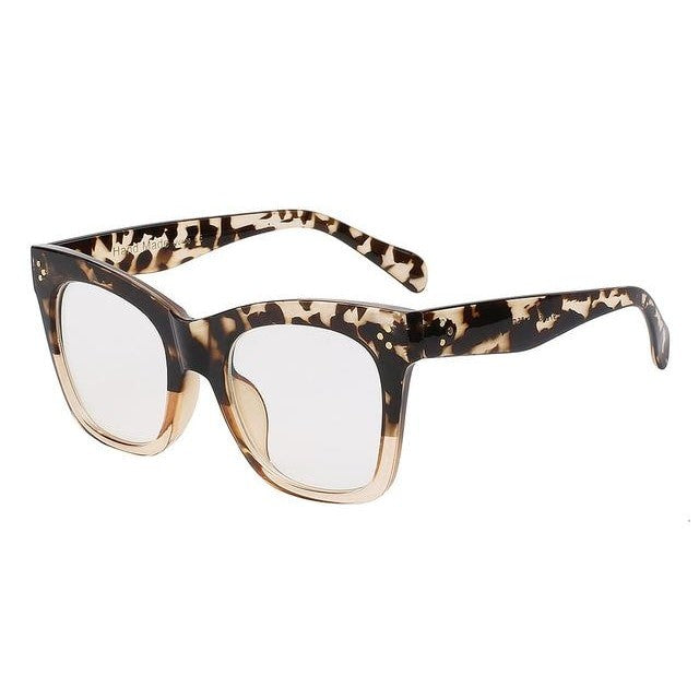 Fiesta - Leopardbrown w clear - Men's & Women's Sunglasses - Wayfarers - Crissado